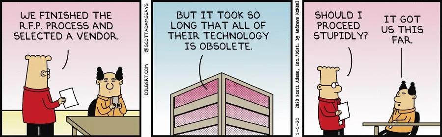 A Dilbert comic on the RFP response process