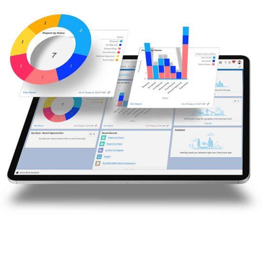 Salesforce RFP on Ipad
