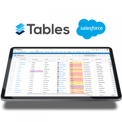 Avnio Tables on tablet