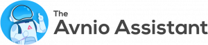 The Avnio Assistant Logo Dark